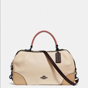 Coach Lane Satchel - Colorblock w/Snakeskin Detail